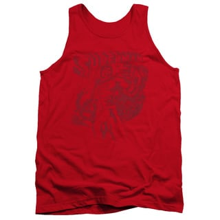 Superman/Code Red Adult Tank in Red
