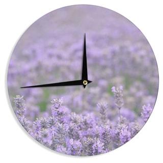 KESS InHouse Robin Dickinson 'Everywhere' Lavender Purple Wall Clock