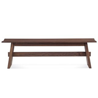 Saloom Oak/Pecan 48-inch Split Base Bench