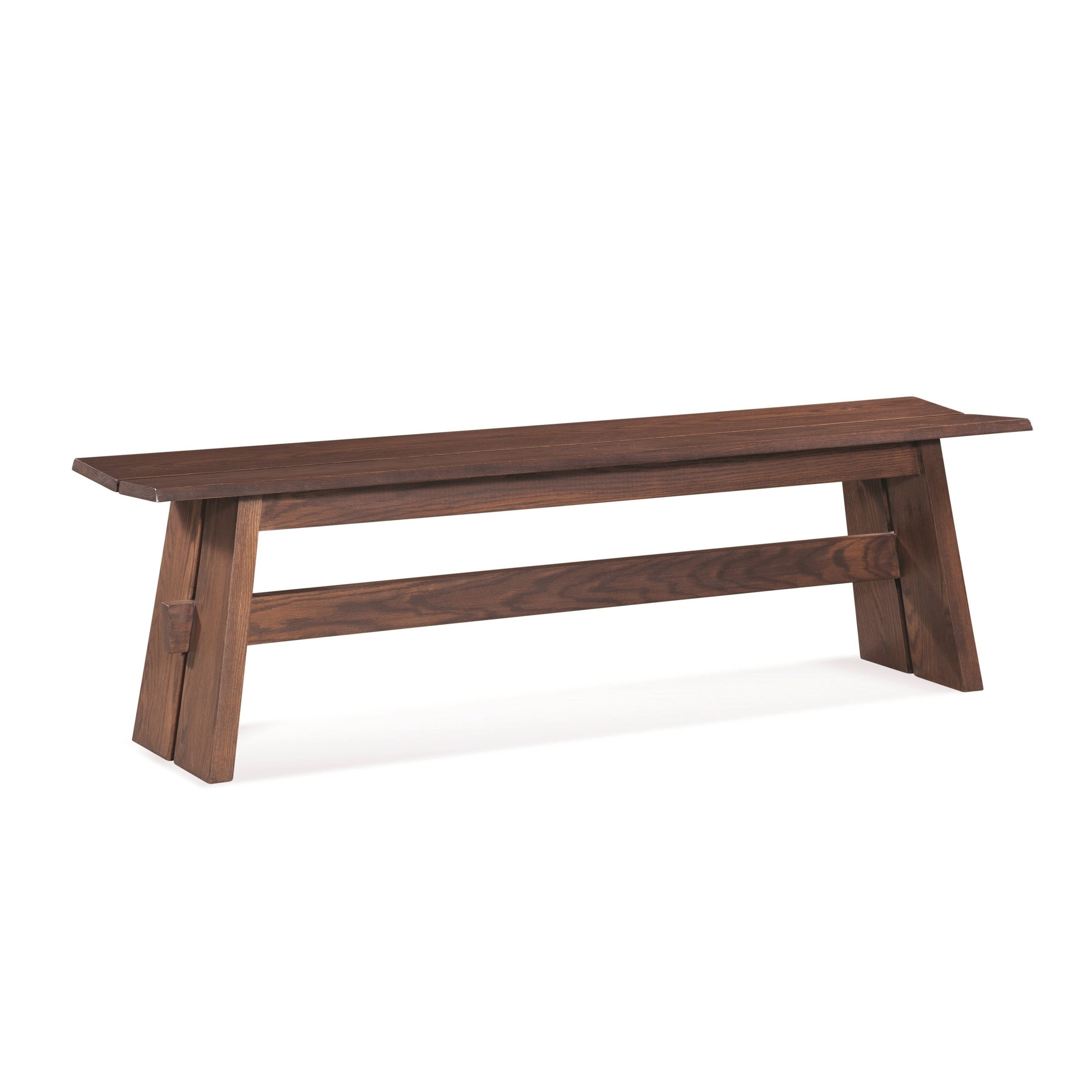 Saloom Oak Pecan 48 Inch Split Base Custom Dining Bench Overstock 12527759