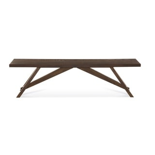Saloom Lenox Burnt Oak/Steel 52-inch Bench