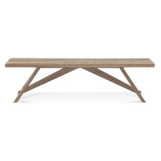 Saloom Lenox Oak 52-inch Cafe Bench