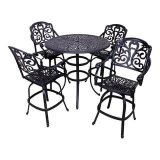 London 5-Piece Aluminum Outdoor Bar Height Dining Set