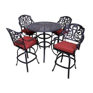 London 5-Piece Bar Height Aluminum Outdoor Dining Set