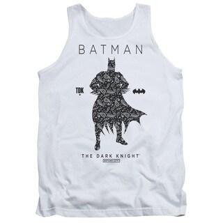 Batman/Paislety Silhouette Adult Tank in White
