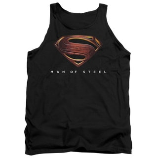 Man Of Steel/Mos New Logo Adult Tank in Black