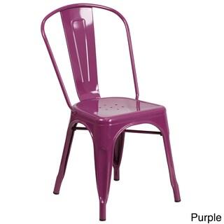 Porch & Den Stonehurst Blenheim Metal Indoor/Outdoor Chair (Option: Purple)