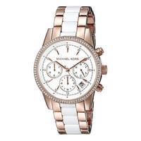 Michael Kors Women's MK6324 Ritz Rosegold tone and White Acetate Watch
