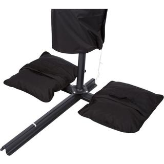 Trademark Innovations Black Synthetic Fiber Saddlebag Sand Weight for Outdoor Umbrellas