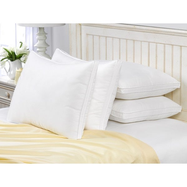 Exquisite Hotel Gusseted Memory Fiber Pillow (Set of 4)