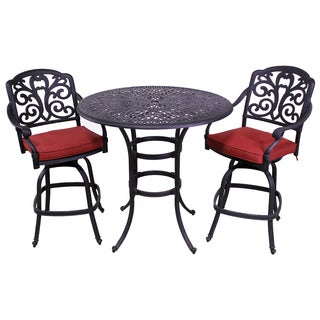London Antique Bronze Bar Height 3-Piece Outdoor Bistro Set