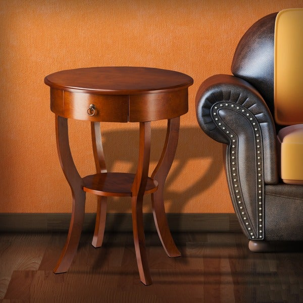 Harper Blvd Lyman Brown Mahogany Accent Table