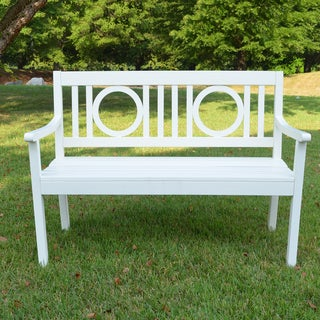 Nilsen White Hardwood Outdoor Bench