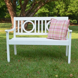 Nilsen White Hardwood Outdoor Bench