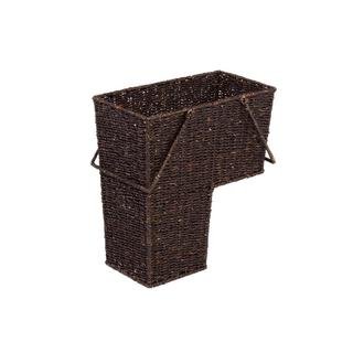 Trademark Innovations Brown Rattan Wicker Storage Stair Basket With Handles