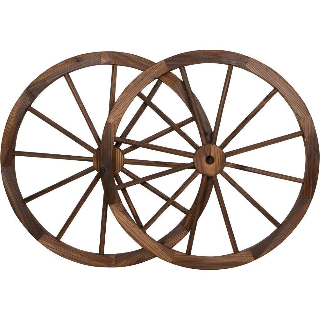 Trademark Innovations Vintage-style Wood 30-inch Diameter...
