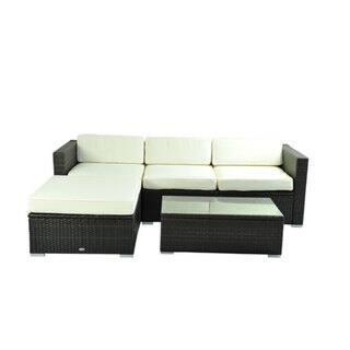 Outsunny Deluxe Outdoor Rattan Wicker