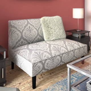 Coaster Company Grey and White Damask Settee