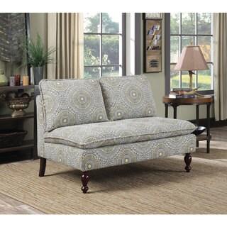 Coaster Company Cushioned Linen Settee Sofa