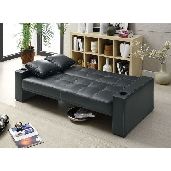 Shop Coaster Company Black Sofa Bed   On Sale   Free Shipping