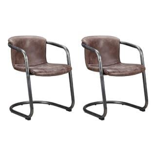 Aurelle Home Mason Dining Chair Light Brown (Set of 2)
