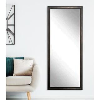 BrandtWorks Clouded Bronze 30 x 64 - Inch Floor Mirror - Bronze/Black