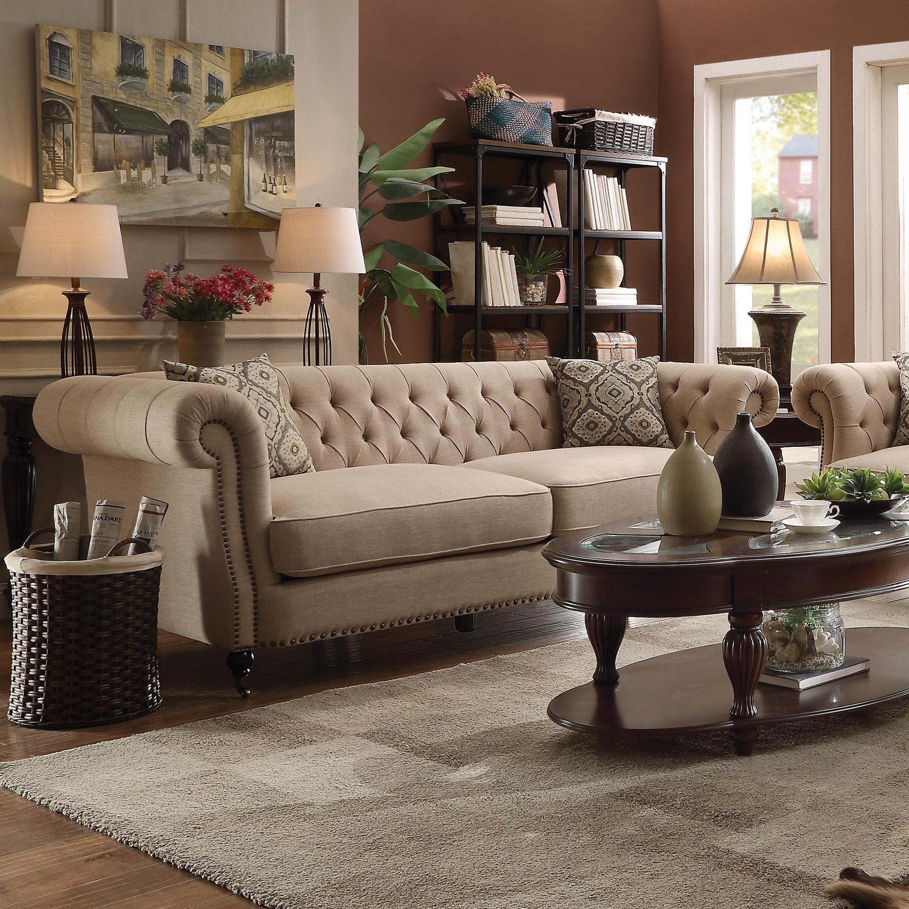 Beige Traditional Sofa/ Loveseat   eBay