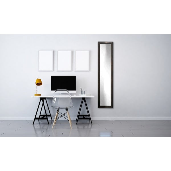 Multi Size BrandtWorks Clouded Bronze Slim Floor Mirror - Bronze/Black