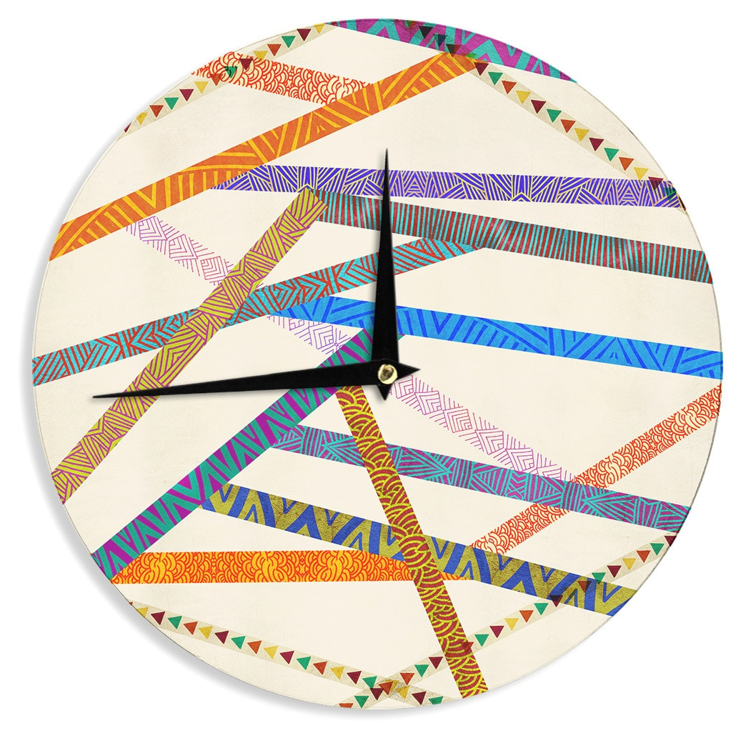 KESS InHouse Pom Graphic Design Unparalleled Wall Clock 12-Inch