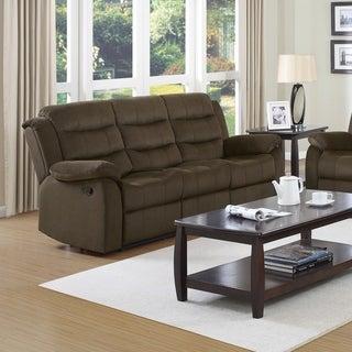 Brown Fabric Motion Recliner Sofa