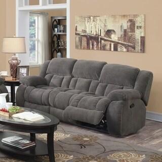 Charmant Coaster Company Chenille Motion Sofa (2 Options Available)