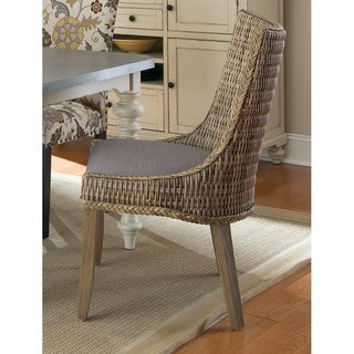 Coaster Grey Mahogany Rattan Greco Dining Chairs (Set of 2)