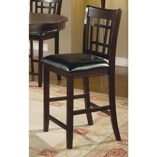 Coaster Company Bonded Bar Stool, Cappuccino/Black (Set of 2)