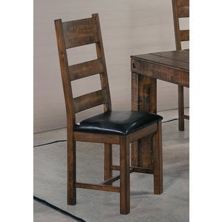 Coaster Brown Wood Padded Dining Chair