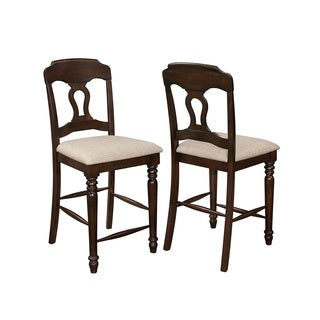 Coaster Company Brown Wood Counter-height Chairs (Set of 2)