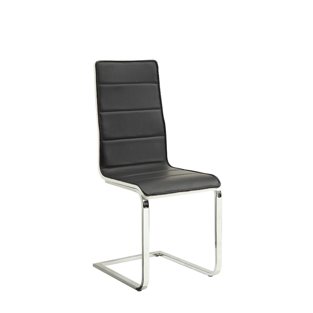 Coaster Furniture Faux Leather Chrome Legs Modern Dining ...