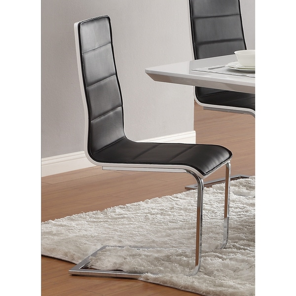 Shop Coaster Company Faux Leather Chrome Legs Modern ...