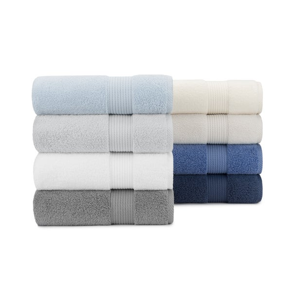 Opulent Zero Twist Plush 6-piece Soft Cotton Bath Towel Set, with Bath Towels, Hand Towels and Washcloths by Briarwood Home