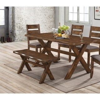Coaster Company Brown Wood Dining Bench