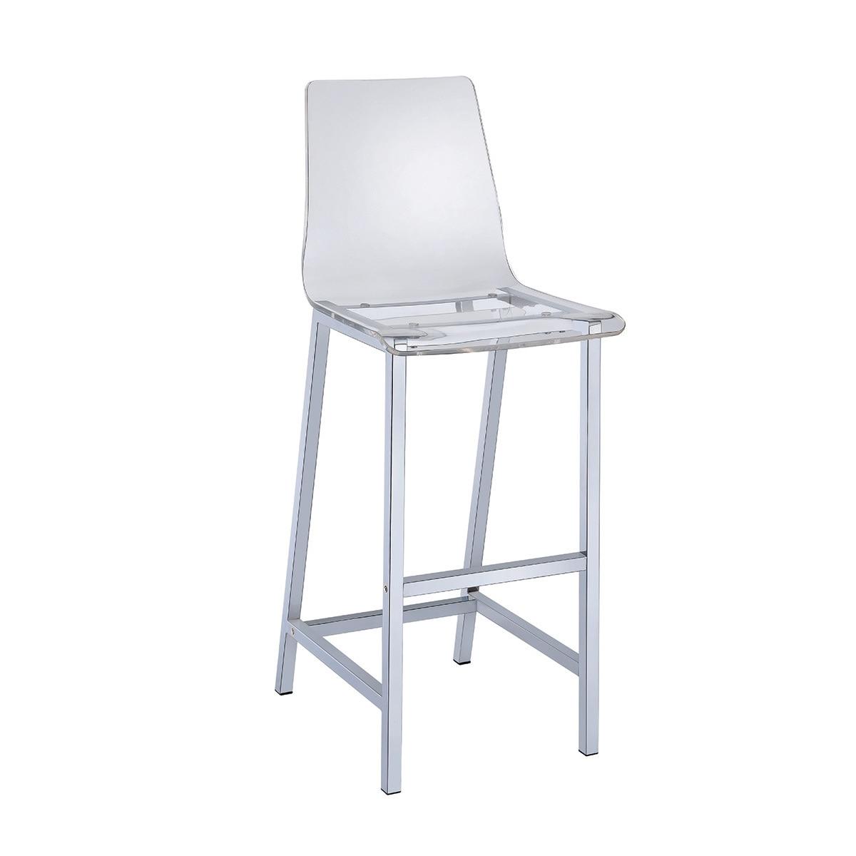 Coaster Furniture Metal 30-inch Bar Stool (Clear)