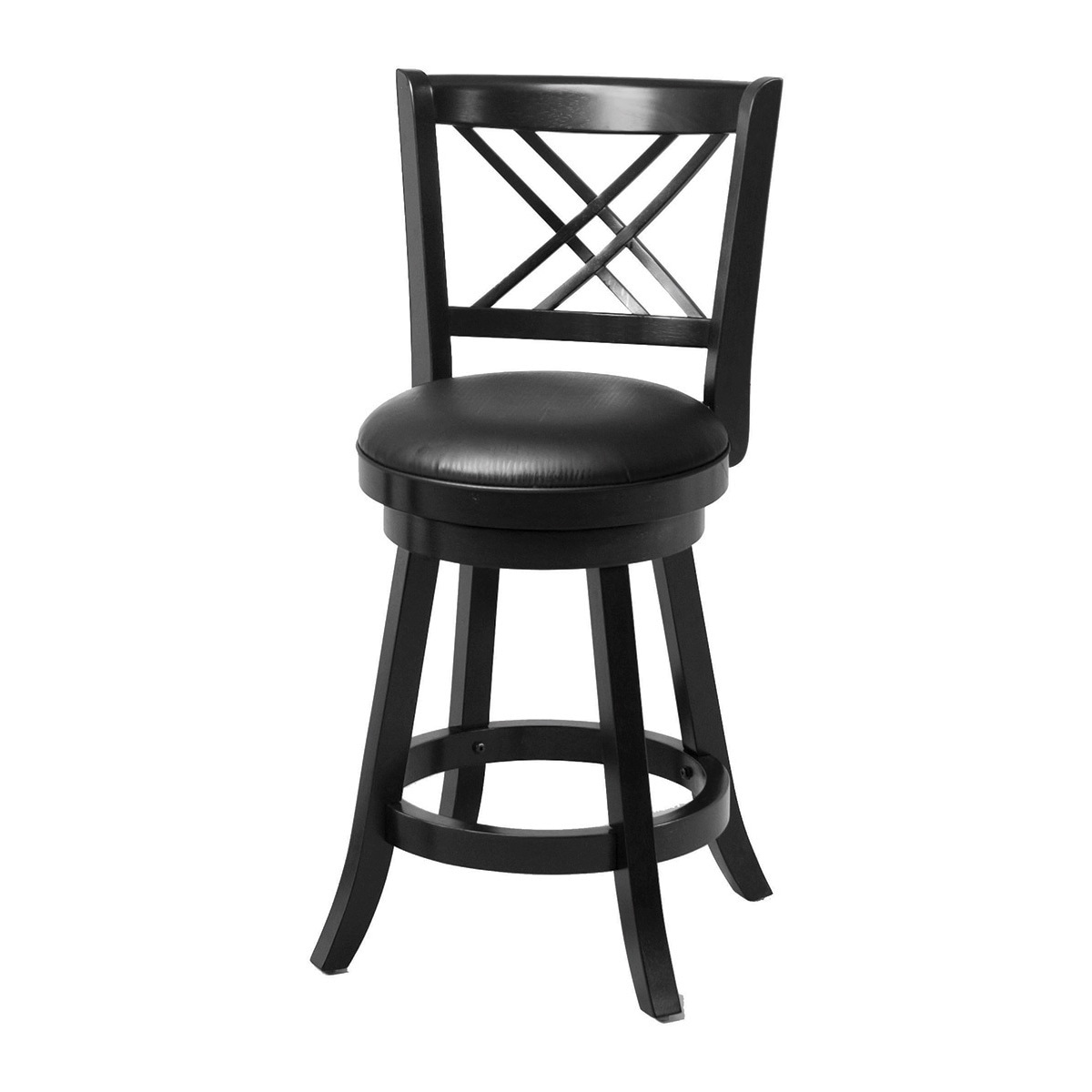 Shop Coaster Company Black Wood/Veneer Bar Stool