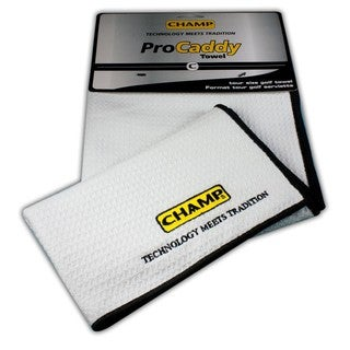 Champ Pro Caddy White Microfiber Golf Towel