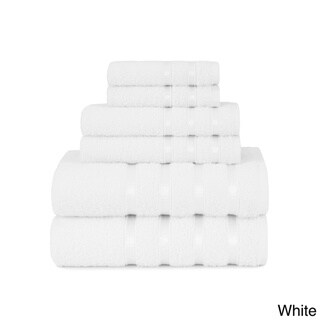 Elegant Viscose Stripe 6-piece Soft Cotton Bath Towel Set, with Bath Towels, Hand Towels and Washcloths by Briarwood Home