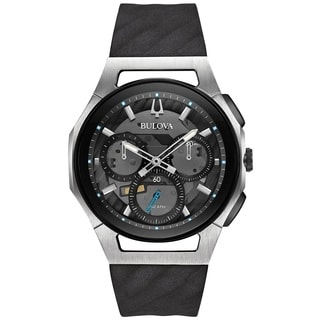 Bulova Men's 98A161 Stainless Steel and Titanium Case CURV Collection 5 Hand Chronograph Watch