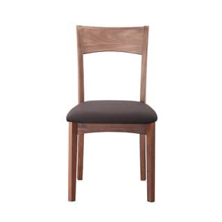 Aurelle Home Modern Solid Walnut Dining Chair (Set of 2)