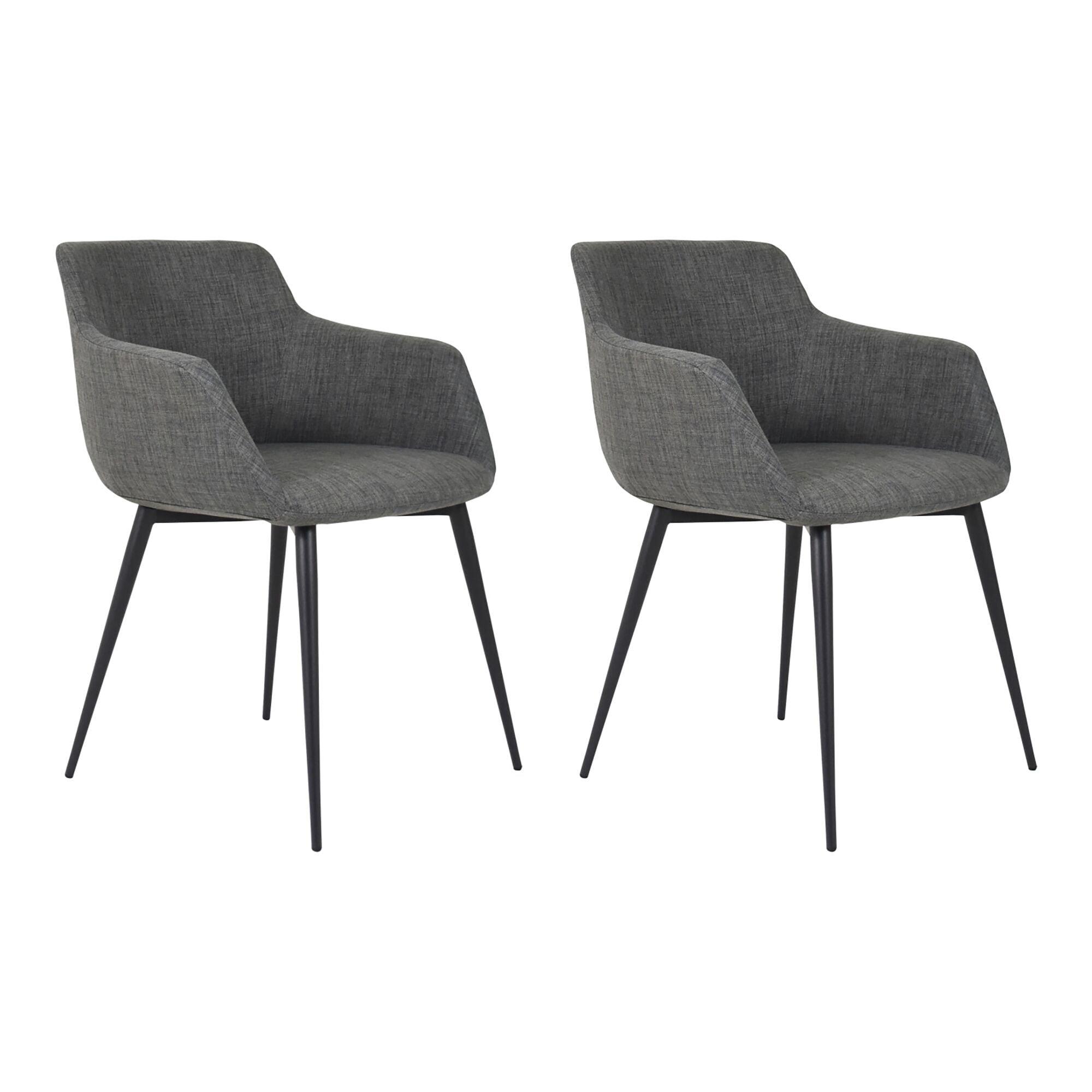 Danish Modern Grey Arm Chair Set