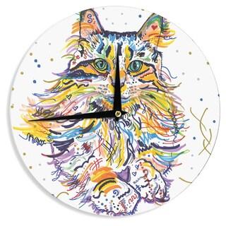 KESS InHouse Rebecca Fischer 'Leo' Wall Clock