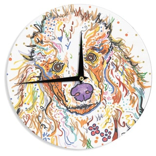 KESS InHouse Rebecca Fischer 'Lily' Poodle Wall Clock