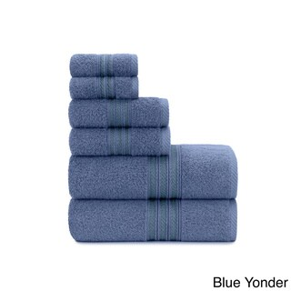 Luxurious Soft Ring Spun 6-piece Cotton Bath Towel Set, with Bath Towels, Hand Towels and Washcloths by Briarwood Home