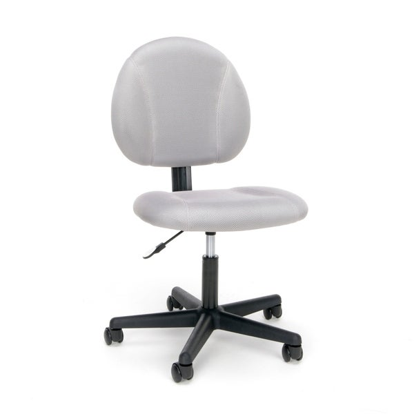 Essentials by OFM ESS-3060 Swivel Upholstered Armless Task Chair, Gray